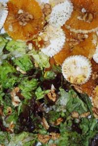 Ensalada de queso y naranja - detalle